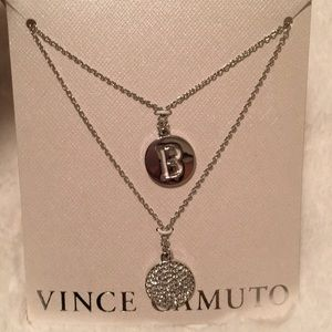 NWT Vince Camuto necklace with 'B' initial.